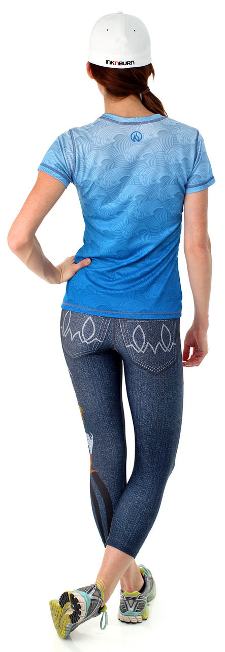 INKnBURN Women's Dragon's Gate Tech Shirt and Capris