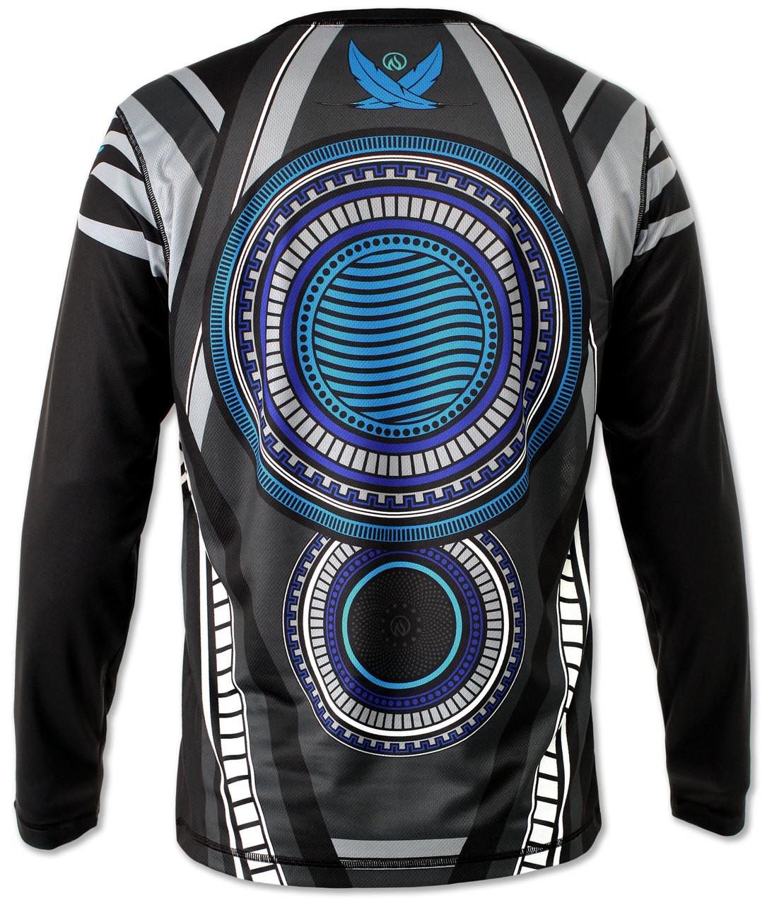 INKnBURN Men's Falcon Long Sleeve Tech Shirt Back