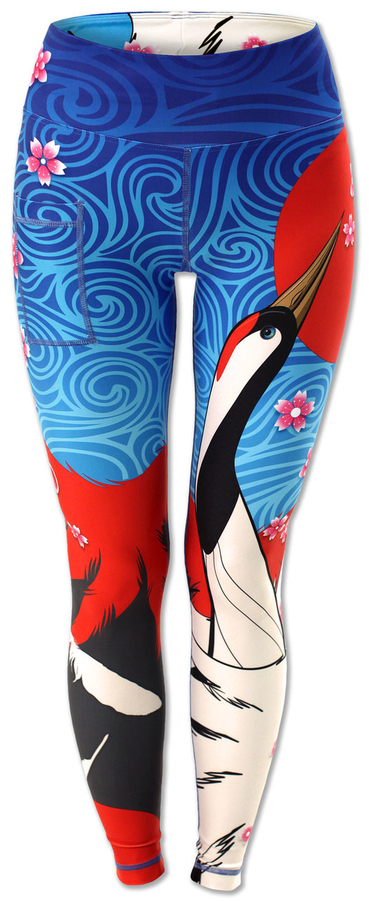 INKnBURN Women's Crane Tights Front