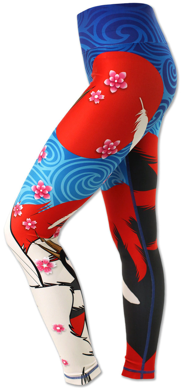 INKnBURN Women's Crane Tights Left Side