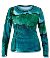 INKnBURN Women's Peeling Paint Long Sleeve Tech Shirt Front