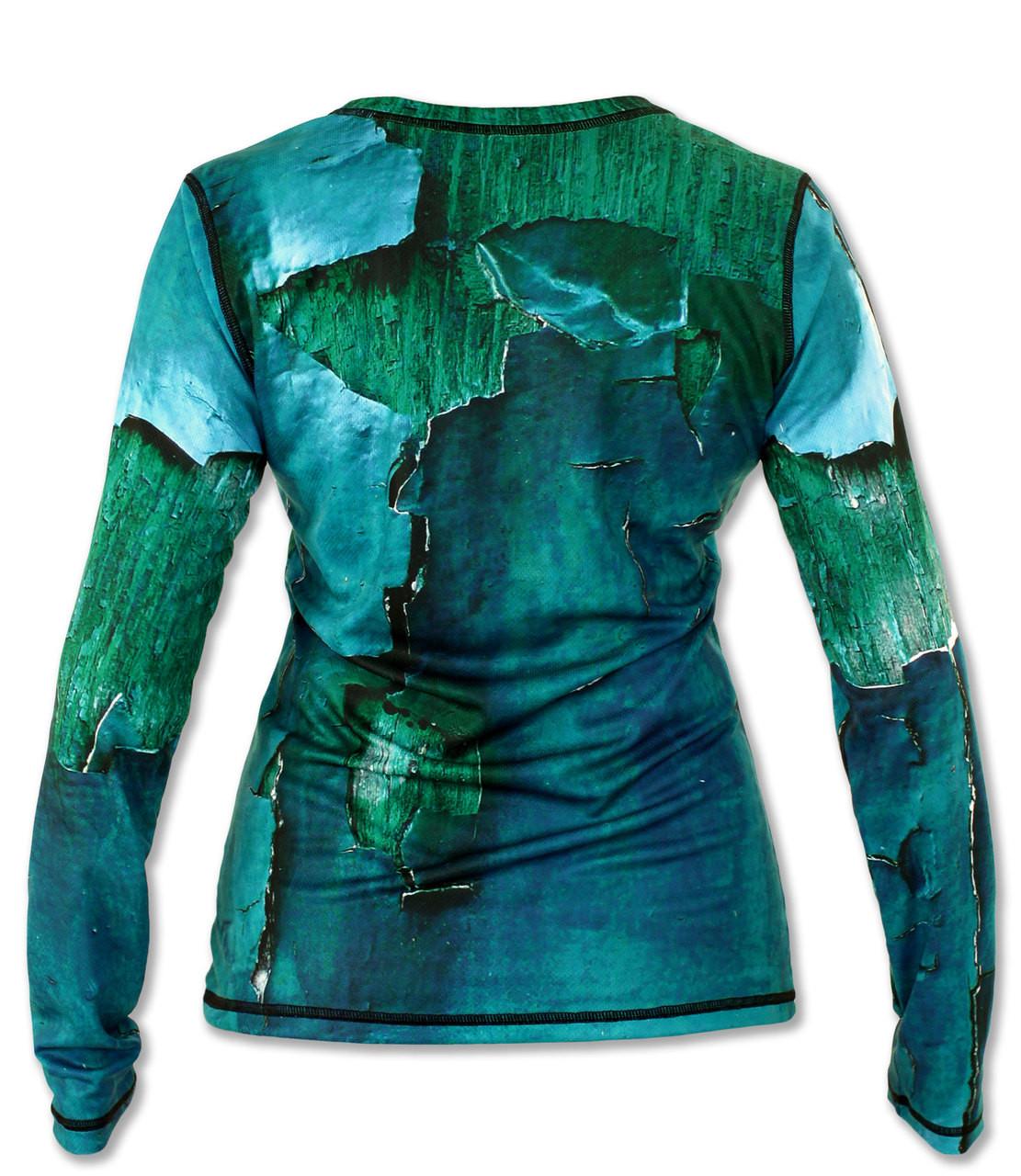 INKnBURN Women's Peeling Paint Long Sleeve Tech Shirt Back