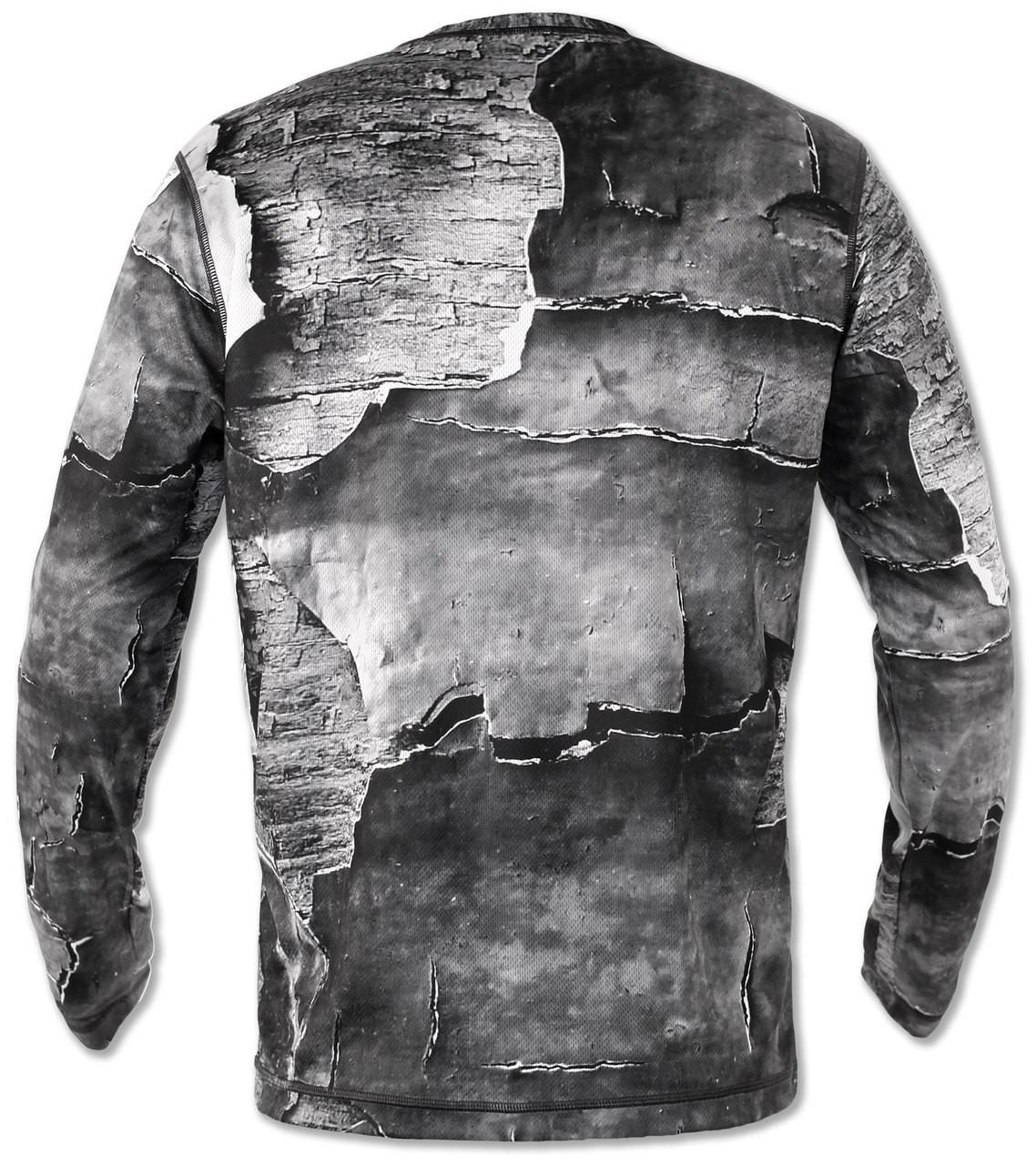 INKnBURN Men's Peeling Paint Long Sleeve Tech Shirt Back