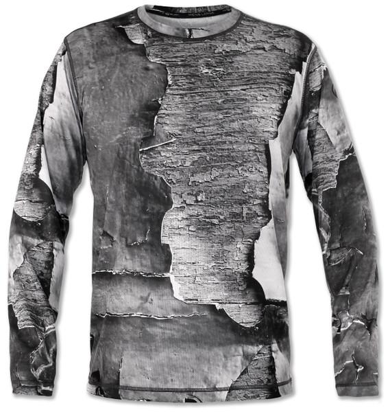 INKnBURN Men's Peeling Paint Long Sleeve Tech Shirt Front