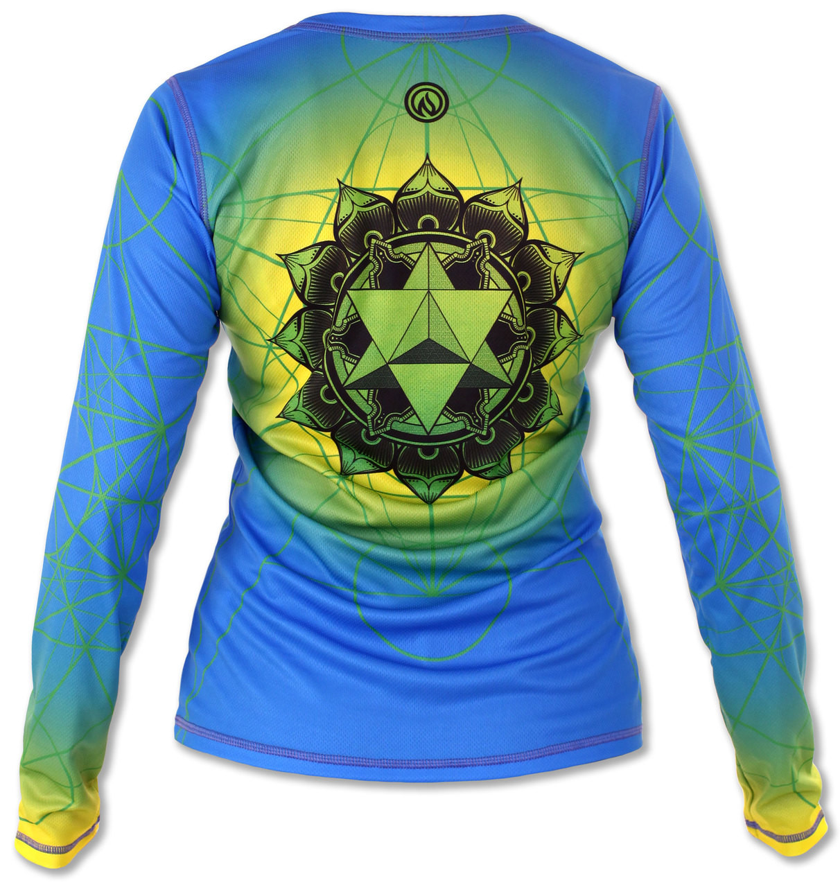 INKnBURN Women's Anahata Long Sleeve Tech Shirt Back