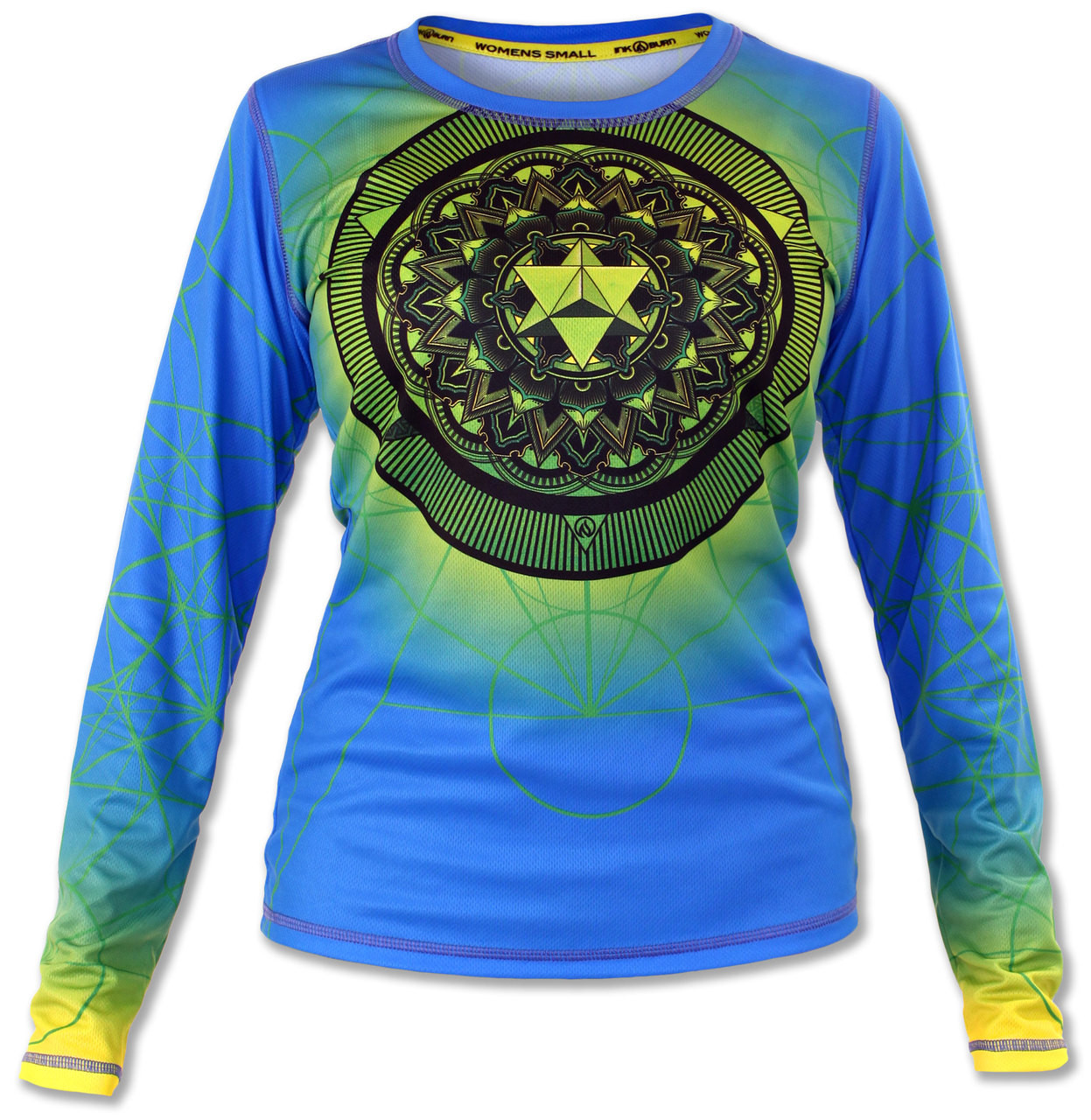 INKnBURN Women's Anahata Long Sleeve Tech Shirt Front