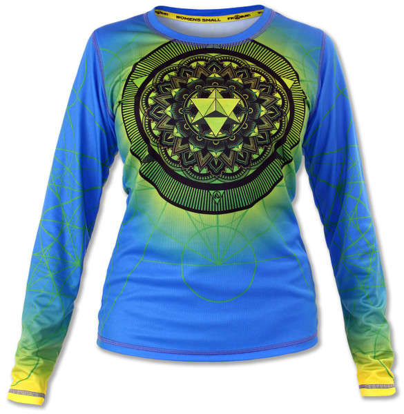 INKnBURN Women's Anahata Long Sleeve Tech Shirt Front