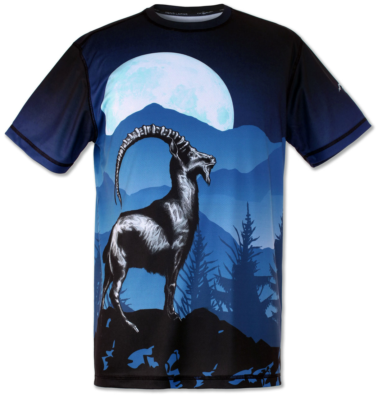 Men's Mountain Goat Tee Tech Shirt Front