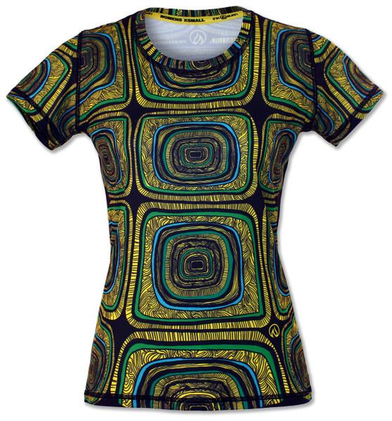 INKnBURN Women's Turtle Tech Shirt Front