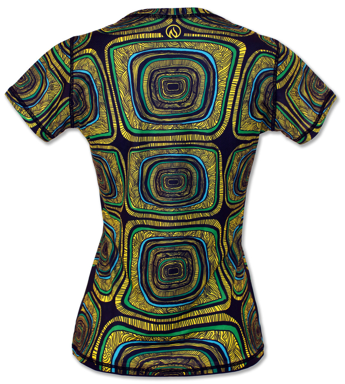 INKnBURN Women's Turtle Tech Shirt Back