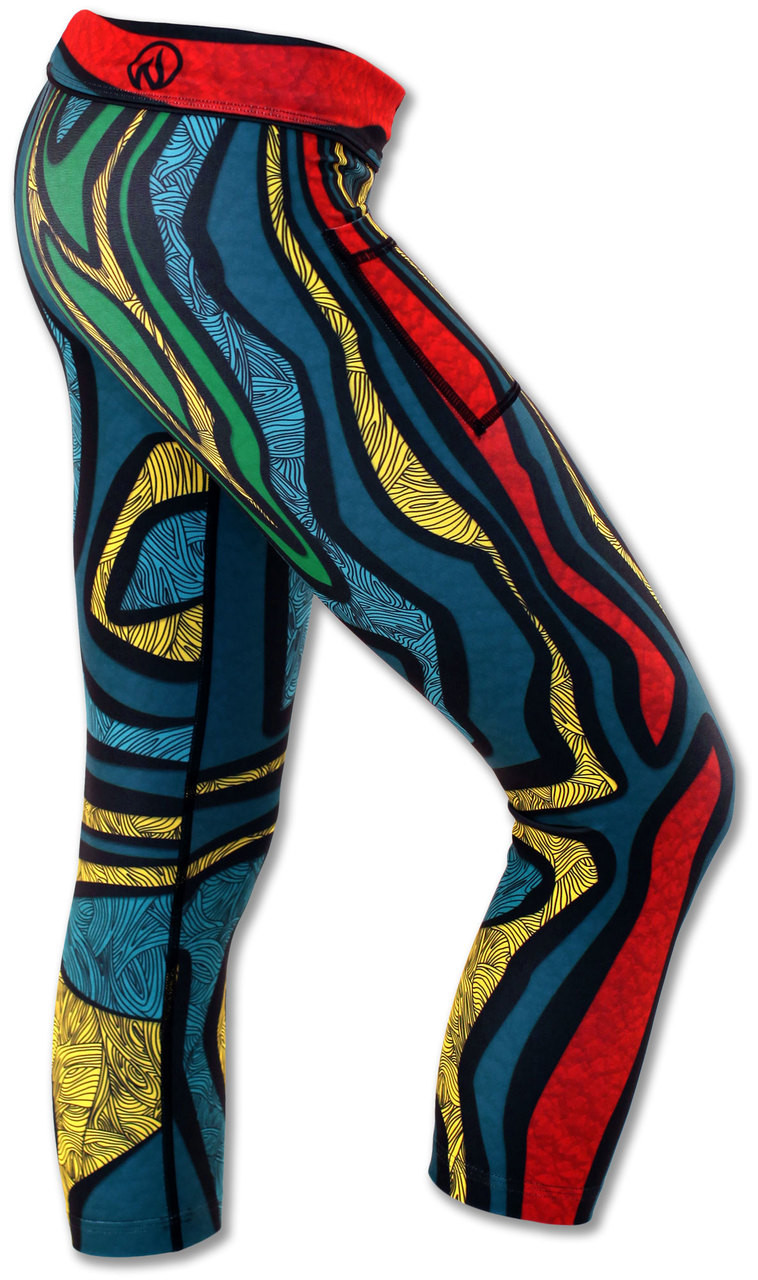 INKnBURN Turtle Capris Right Side Waistband Folded Down
