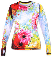 INKnBURN Women's Wildflower Pullover with Thumbholes Front