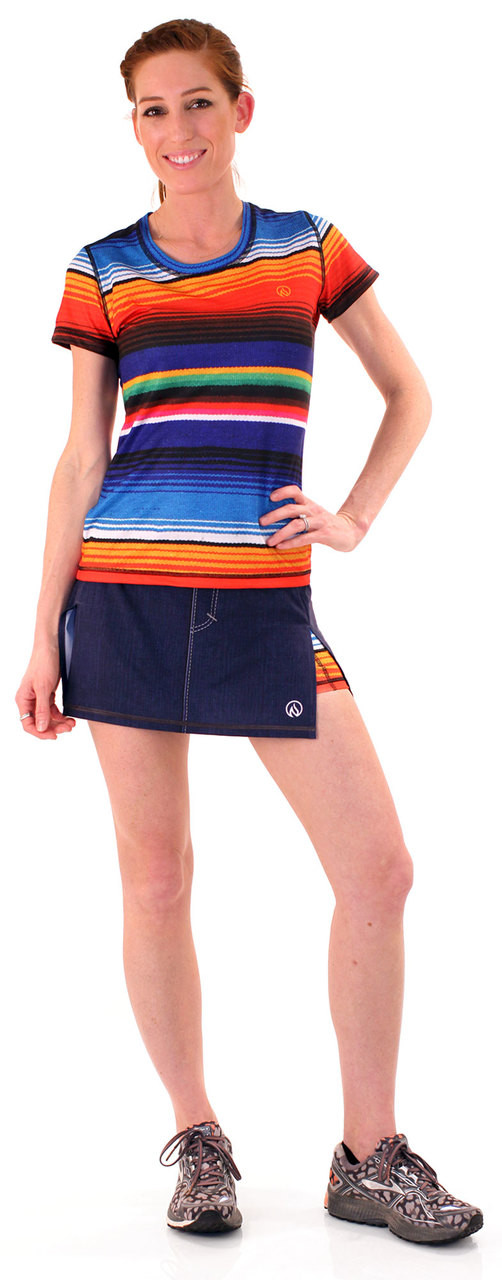 INKnBURN Women's Sarape Tech Shirt and Sport Skirt