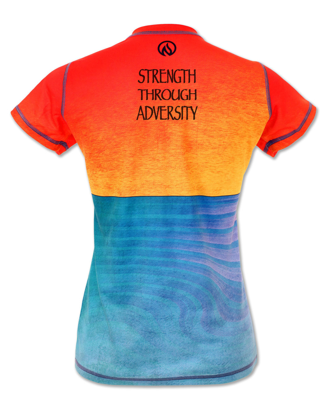 INKnBURN Women's Strength Through Adversity Tech Shirt Back