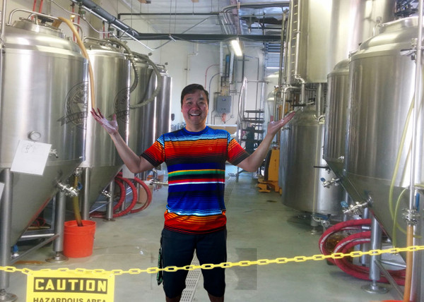 Rob Tsuyuki Standing in front of the New INKnBREWery!