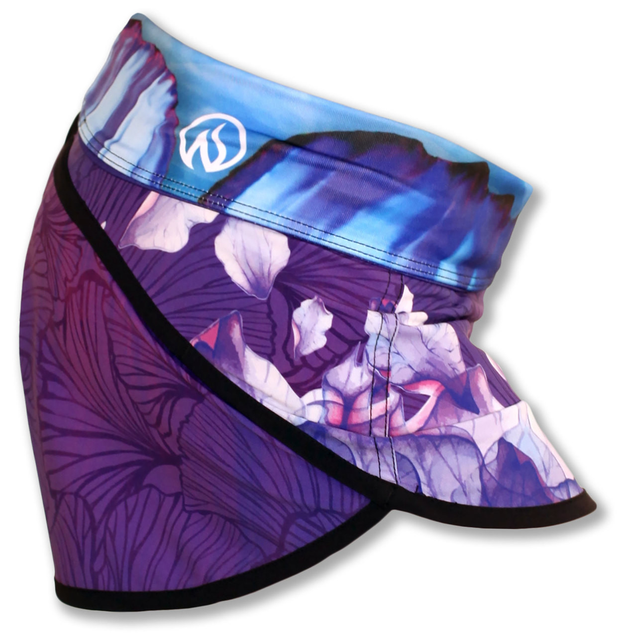 INKnBURN Women's Purple Azalea Shorts Side Waistband folded Down