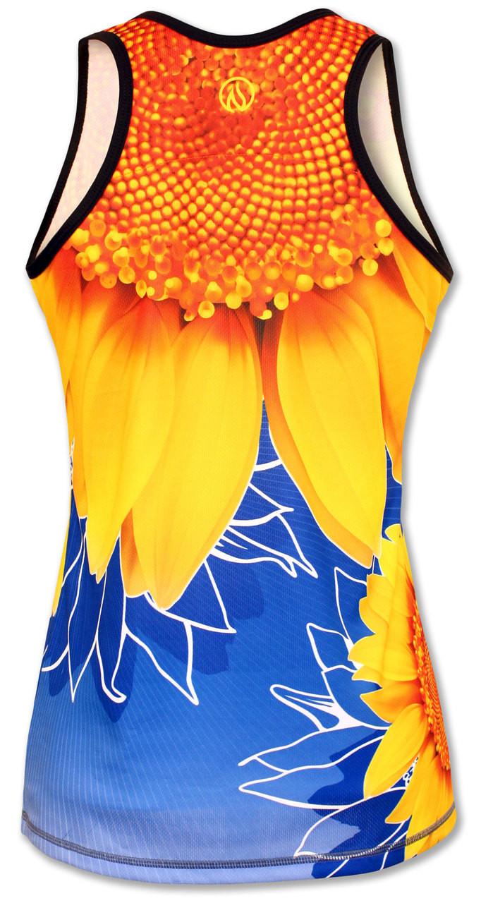 INKnBURN Women's TBT Sunflower Singlet Back