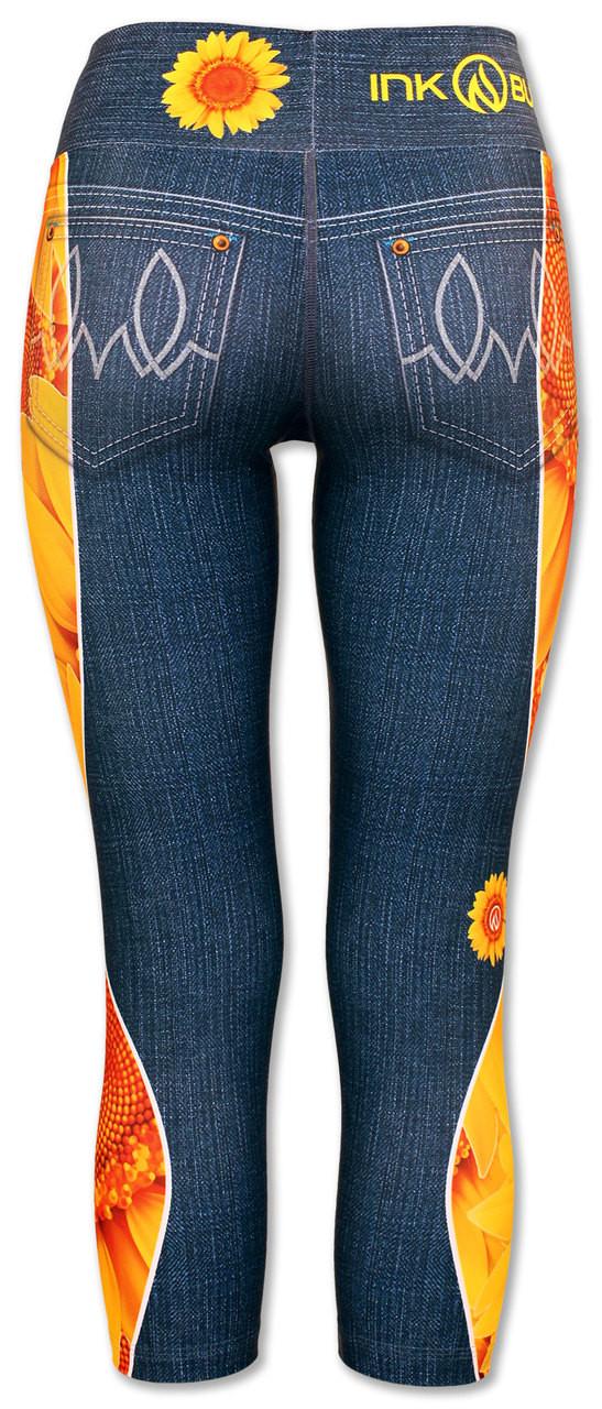 INKnBURN Women's Sunflower Capris Back