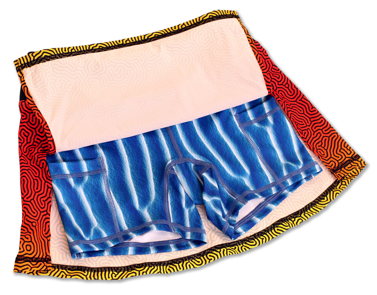 INKnBURN Coral Sport Skirt