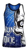 INKnBURN Women's Run or Die Skull Singlet Back