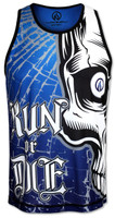 INKnBURN Men's Run or Die Skull Singlet Front