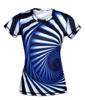 INKnBURN Women's Hypnotic Tech Shirt Front