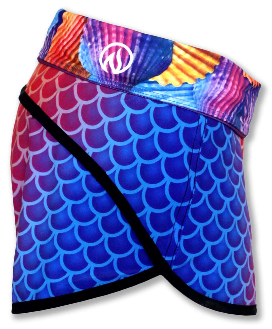 INKnBURN Women's TBT Mermaid Shorts