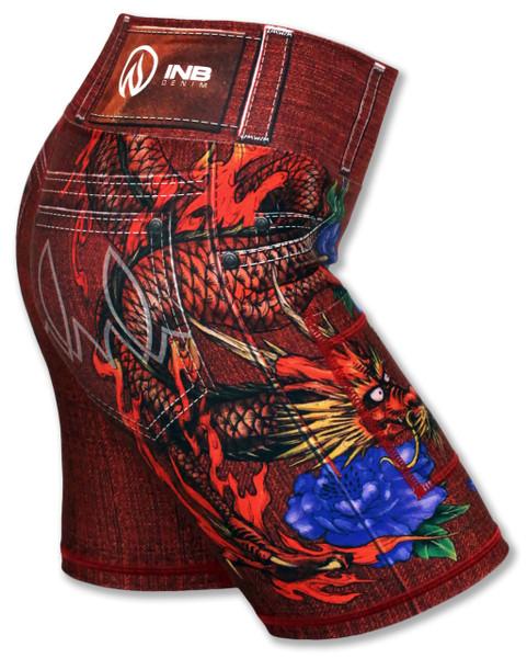 "INKnBURN Women's Red Ryu 6"" Shorts"