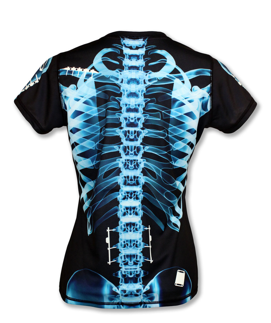 INKnBURN Women's Blue X-Ray Tech Shirt Back