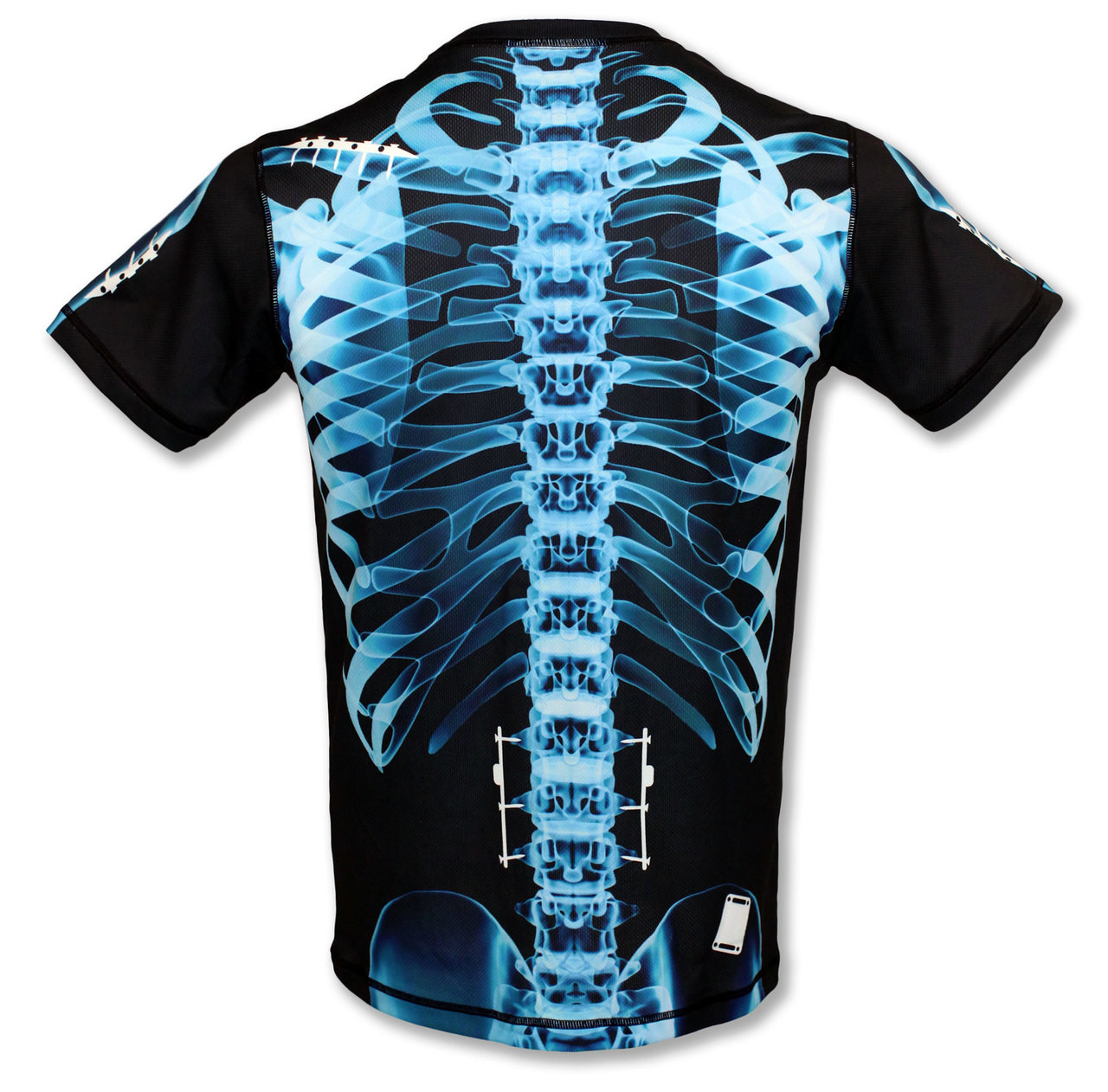 INKnBURN Men's Blue X-Ray Tech Shirt