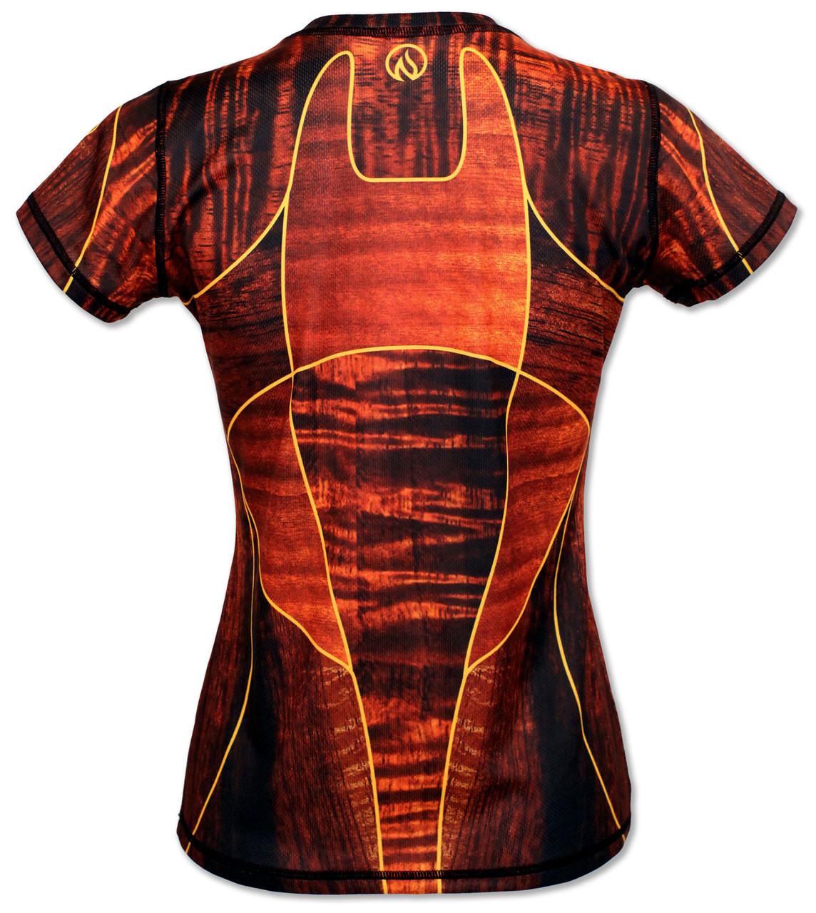 INKnBURN Women's Koa Tech Shirt Back