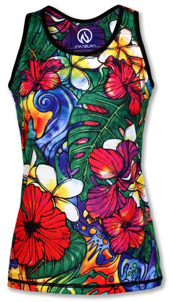 INKnBURN Women's Aloha Singlet Front