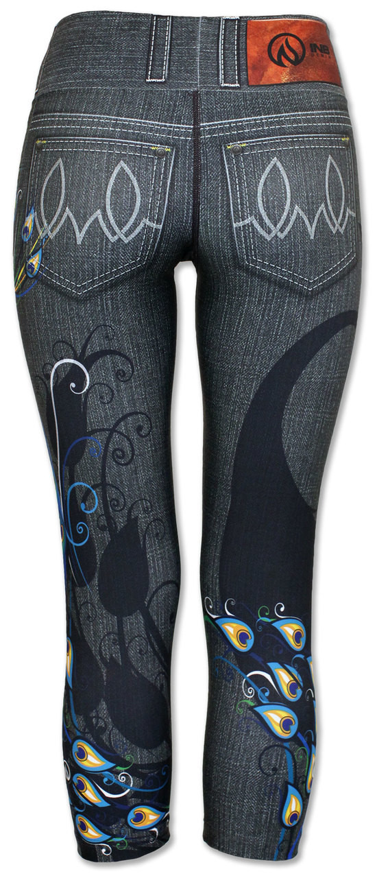 INKnBURN Women's Peacock Capris Back