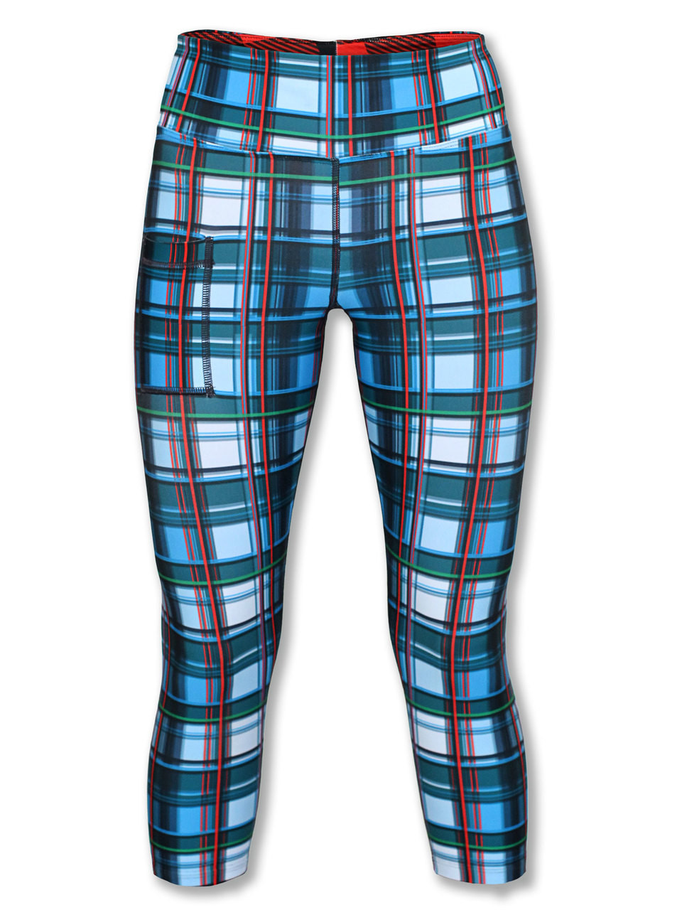INKnBURN Women's Rad Plaid Capris