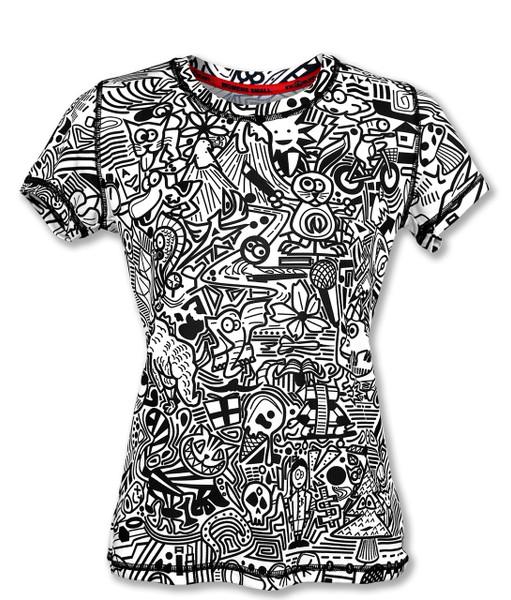 INKnBURN Women's Hidden Meanings Tech Shirt Front