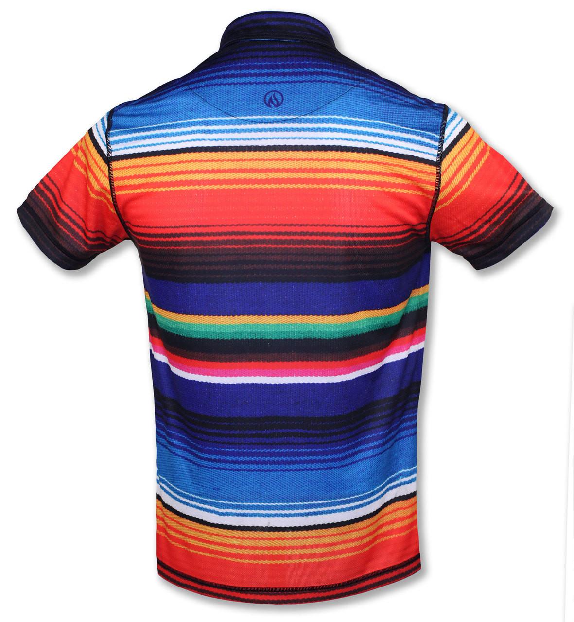 INKnBURN Men's Sarape Polo Shirt Back