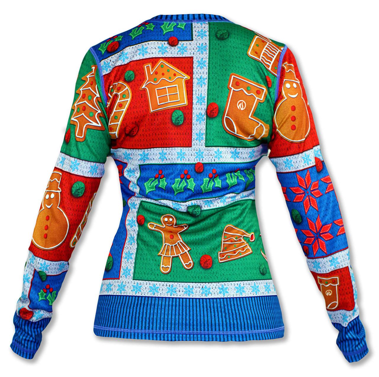INKnBURN Women's 2017 Holiday Sweater Long Sleeve Tech Shirt Back