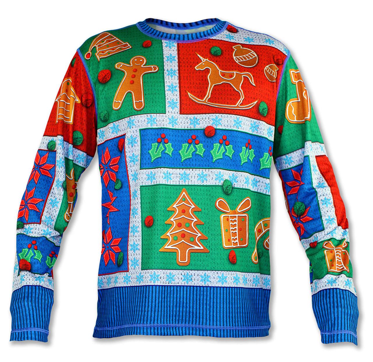 INKnBURN Men's 2017 Holiday Sweater Long Sleeve Tech Shirt Front