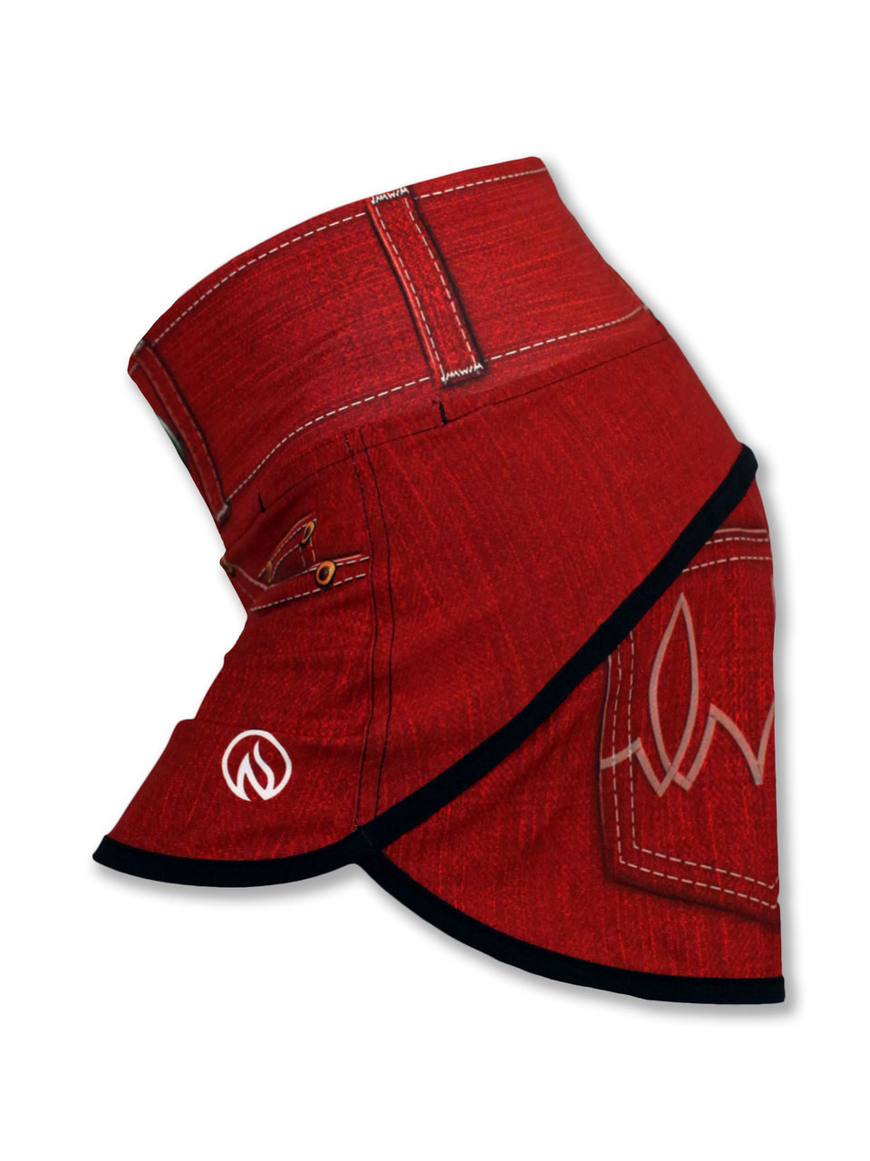 INKnBURN Women's Red Denim Shorts Side