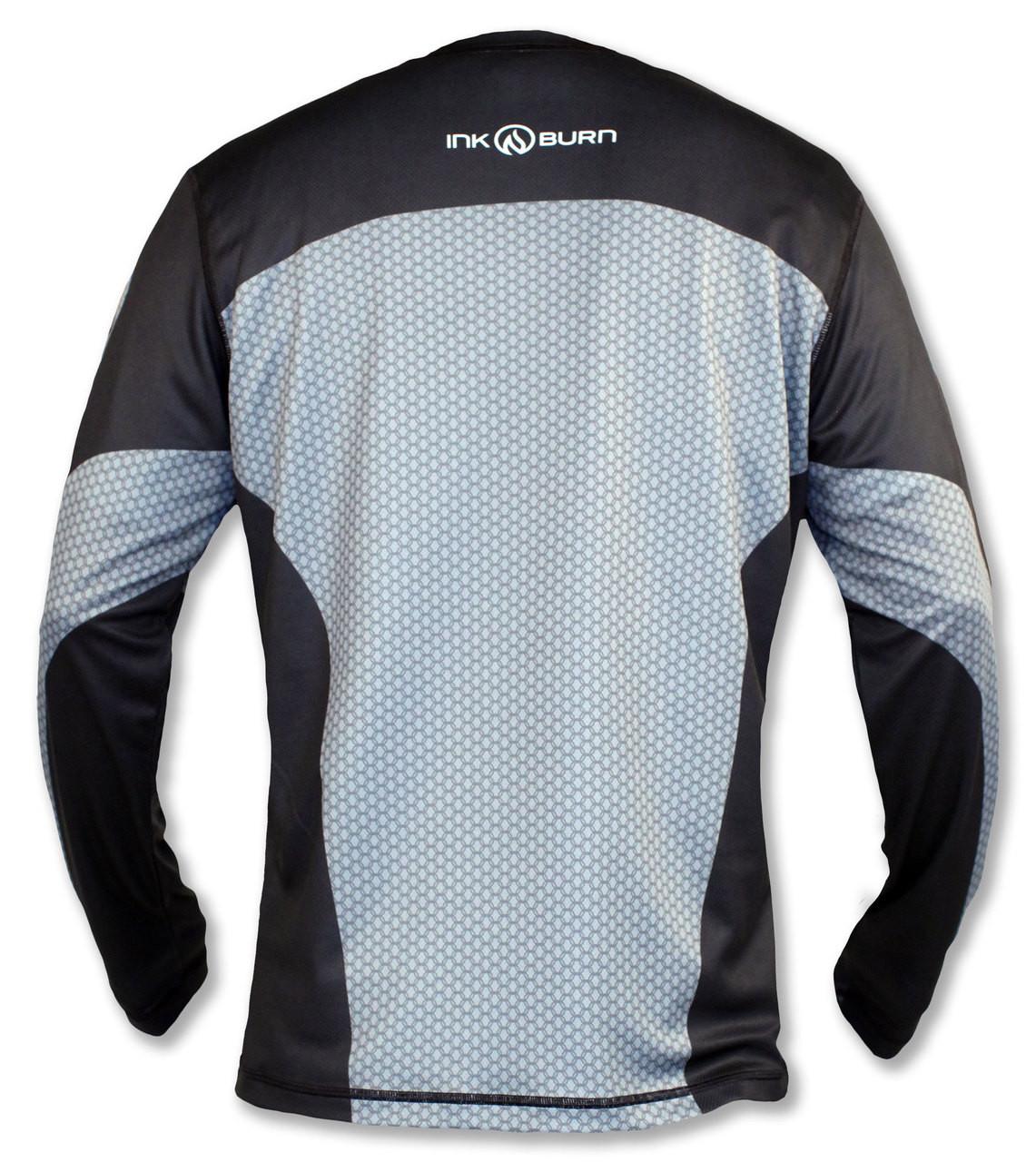 INKnBURN Men's Hatchiko Long Sleeve Tech Shirt Back