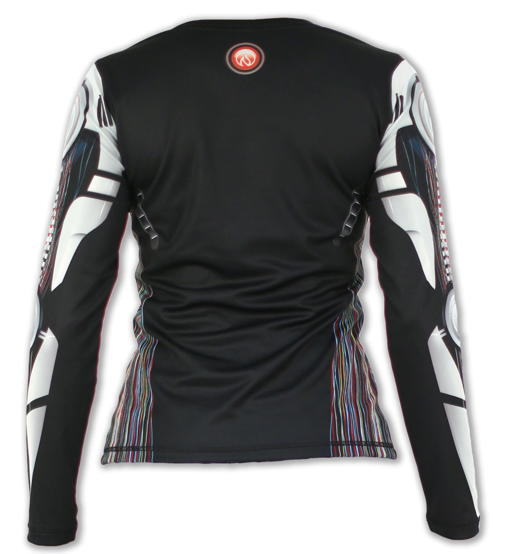 Women's Robot Long Sleeve Tech Shirt Back