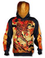 INKnBURN Tiger Hoodie Front