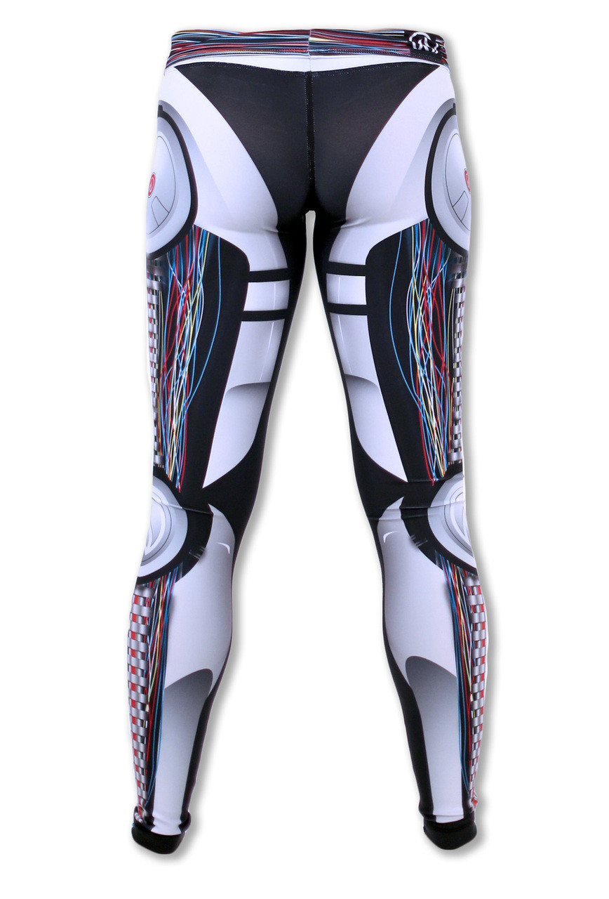 Women's Robot Tights Back Waistband Down