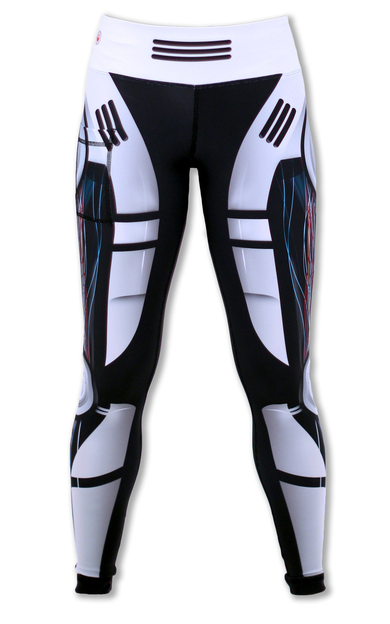 Women's Robot Tights Front Waistband Up