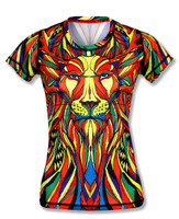 INKnBURN Women's Lion Tech Shirt Front