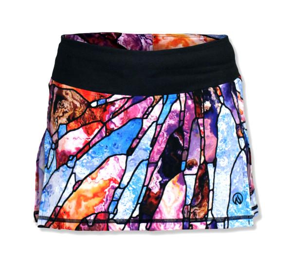 INKnBURN Women's Stained Glass Tech Sports Skirt