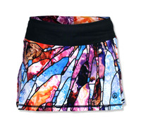 INKnBURN Women's Stained Glass Tech Sports Skirt