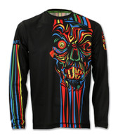 Men's Run or Die Stripes Long Sleeve Tech Shirt Front