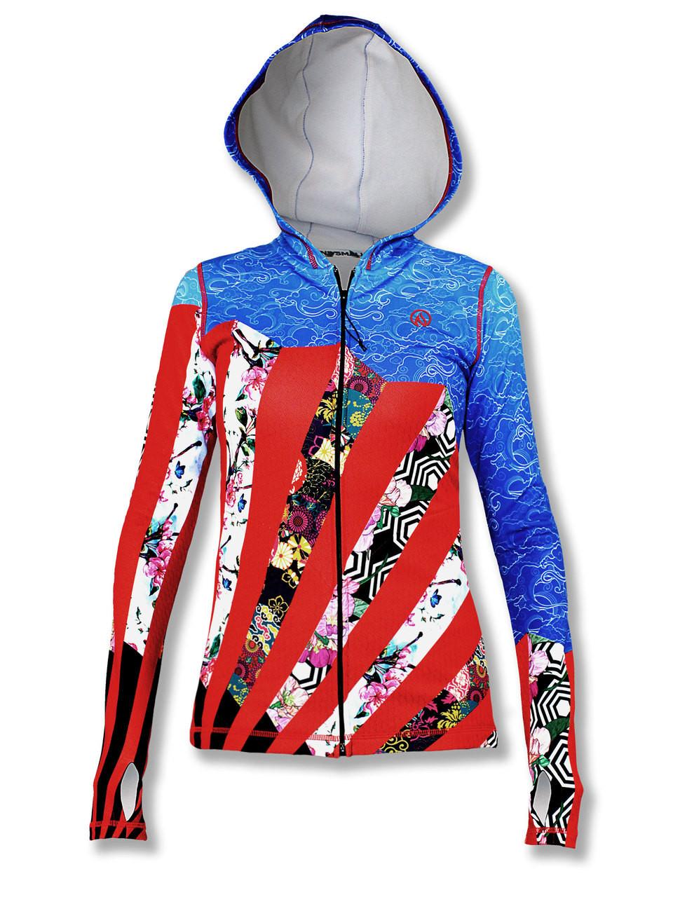 INKnBURN Women's Fan Full Zip Hoodie Front