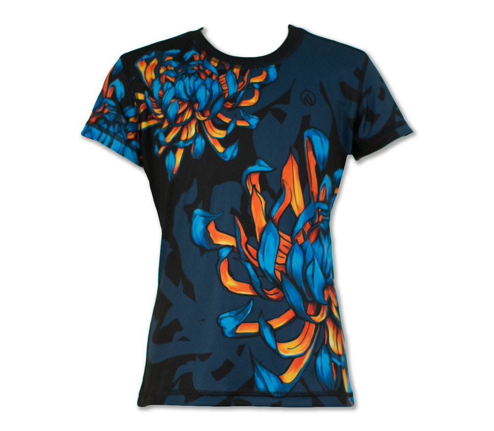 Girl's Bloom! Tech Shirt Front
